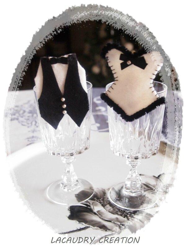 marque places feutrine corset et gilet lacaudry creation