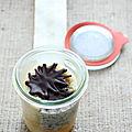 Boco- bûche à la mousse miel et chocolat craquant, fraîcheur de clémentines {recette}