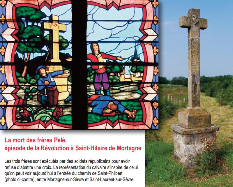Vitrail Freres Pele Saint Hilaire de Mortagne
