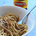 Spaghetti with vegemite