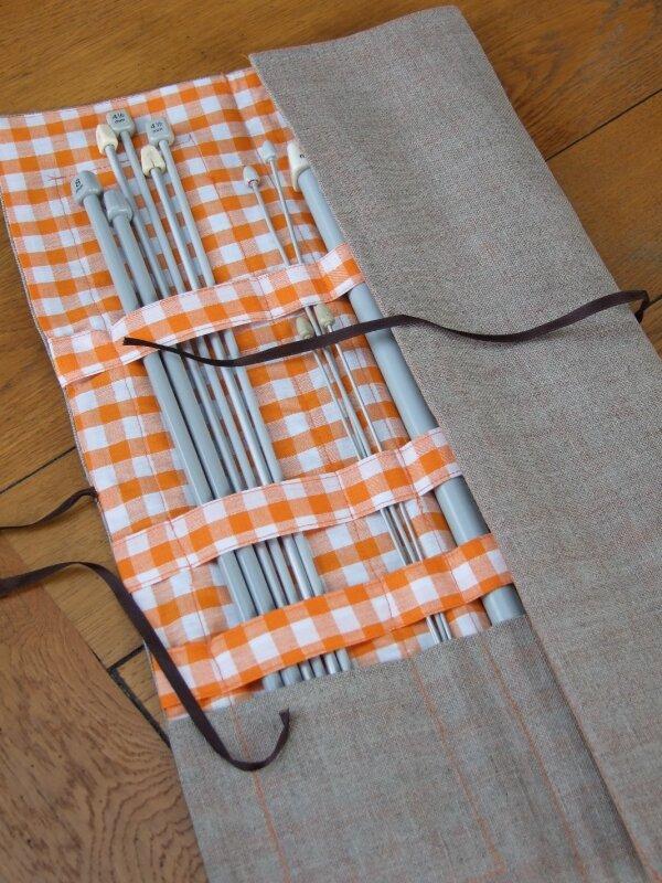 pochette aiguilles à tricoter