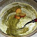 Potage aux choux de bruxelles, poireau, cèleri rave