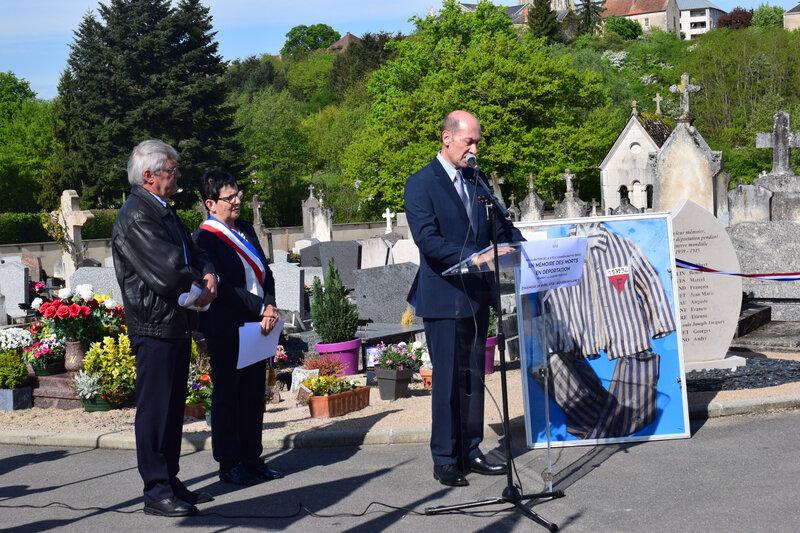 Inauguration de la stèle des morts en déportation de Bourbon-Lancy 5