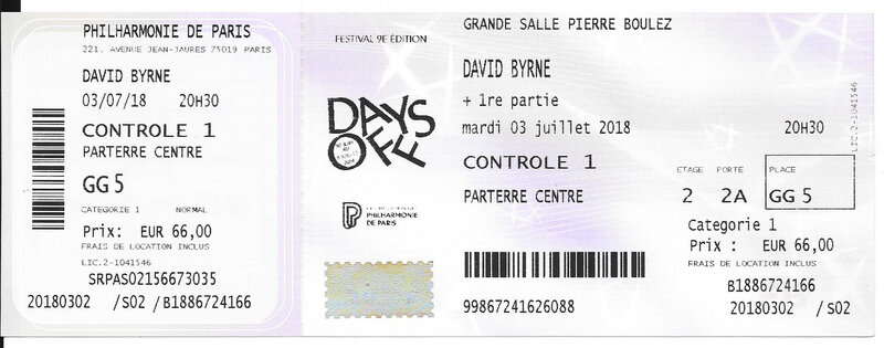 2018 07 03 David Byrne Philharmonie Billet
