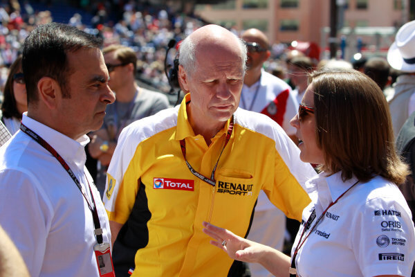 GRAND PRIX FRANCE CARLOS GHOSN AND CLAIRE HAND