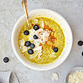 Golden porridge #vegan #glutenfree