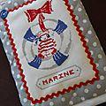 Un protège-carnet de santé pour marine