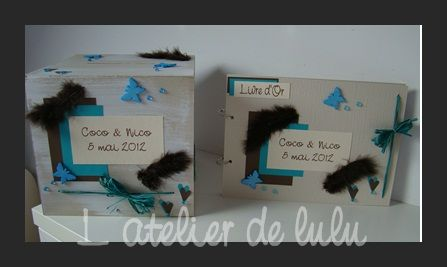decoration_mariage_turquoise_papillons_plumes_coeurs