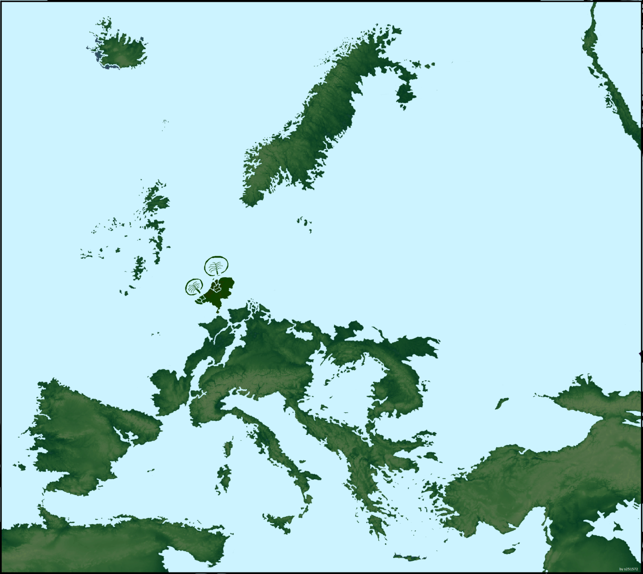If sea levels rose a couple hundred meters in Europe