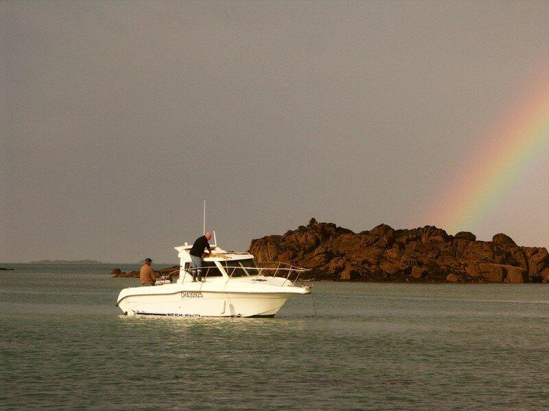 Un arc en ciel après une pluie torrentielle sur l'île...superbe !
