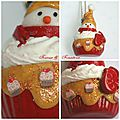 cup cake bonhomme de neige