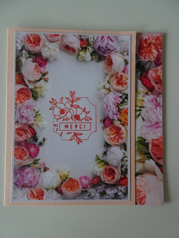 2 Carte Bal fleuri Etiquette mignone