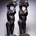 "Baga artist, guinea, ""male and female d'mba figures"", 19th century"
