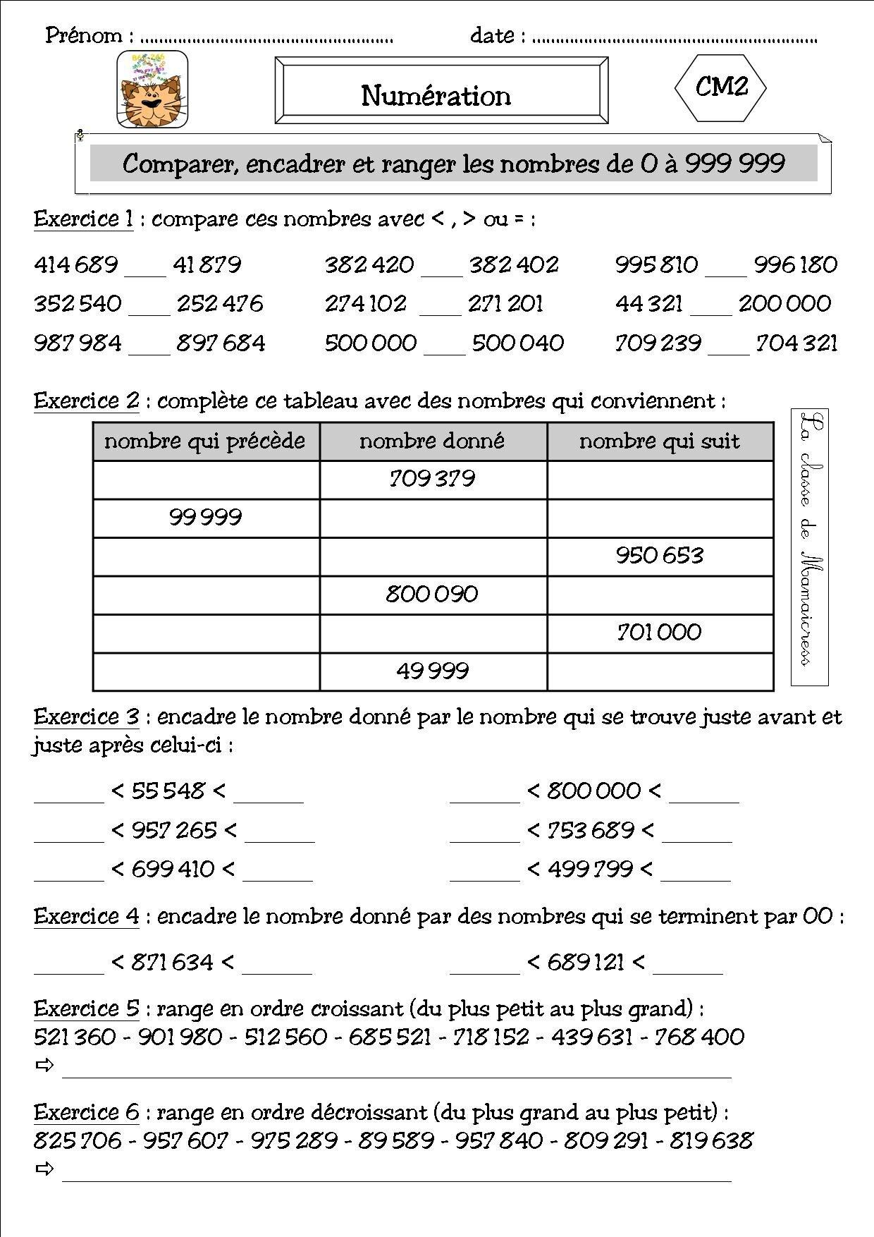 Numeration Et Addition Cm2 La Classe De Mamaicress