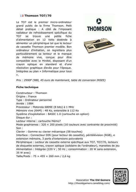 Thomson TO7-1