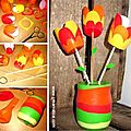 ¨°o.o bouquet de tulipes récup / tulips bouquet recycling o.o°¨