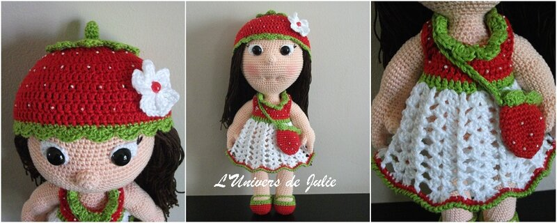 Poupée Fraise Strawberry Girl Havva Designs L'univers de Julie