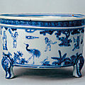 A blue and white censer, Ming dynasty, Hongzhi period (1487-1505), Palace Museum, Beijing.