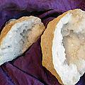 Les géodes de quartz de calcite sont arrivées !