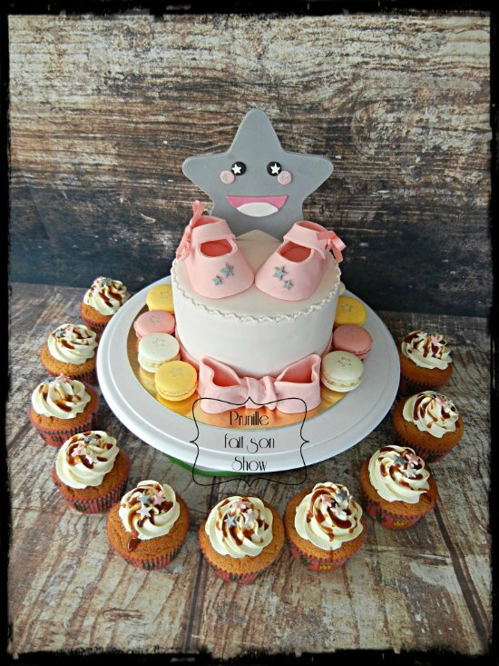 gateau baby shower fille étoile prunillefee 5