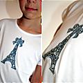 TShirt appliqué Tour Eiffel