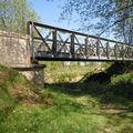 Commune de Saint Sever, pont métallique sur le Gabas