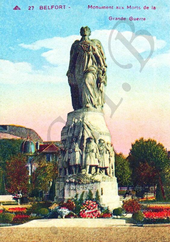 CPA Square du Souvenir 1925-35 Monument CCTB