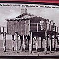 Arcachon - Habitation du garde du parc à huitres en 1945