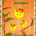 Boutons Déco Girafes