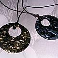 pendentifs noir et or ou argent