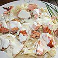 Tagliatelles au saumon frais sauce béchamel parmesan