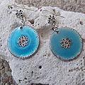 boucles d'oreilles Turquoise / 12€ Rèf: BO01