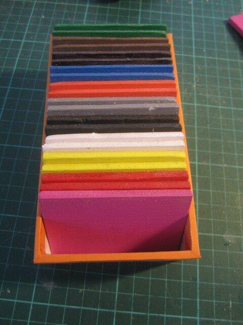 deuxième boite de couleurs