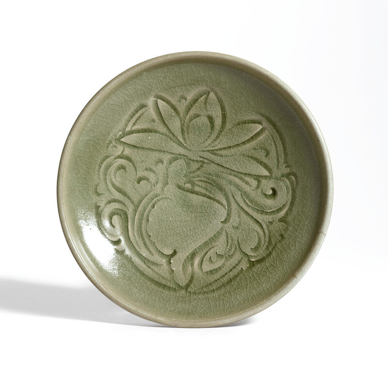 A carved 'Yaozhou' dish, Northern Song dynasty (960-1127)