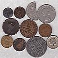 Lot de monnaie fautée