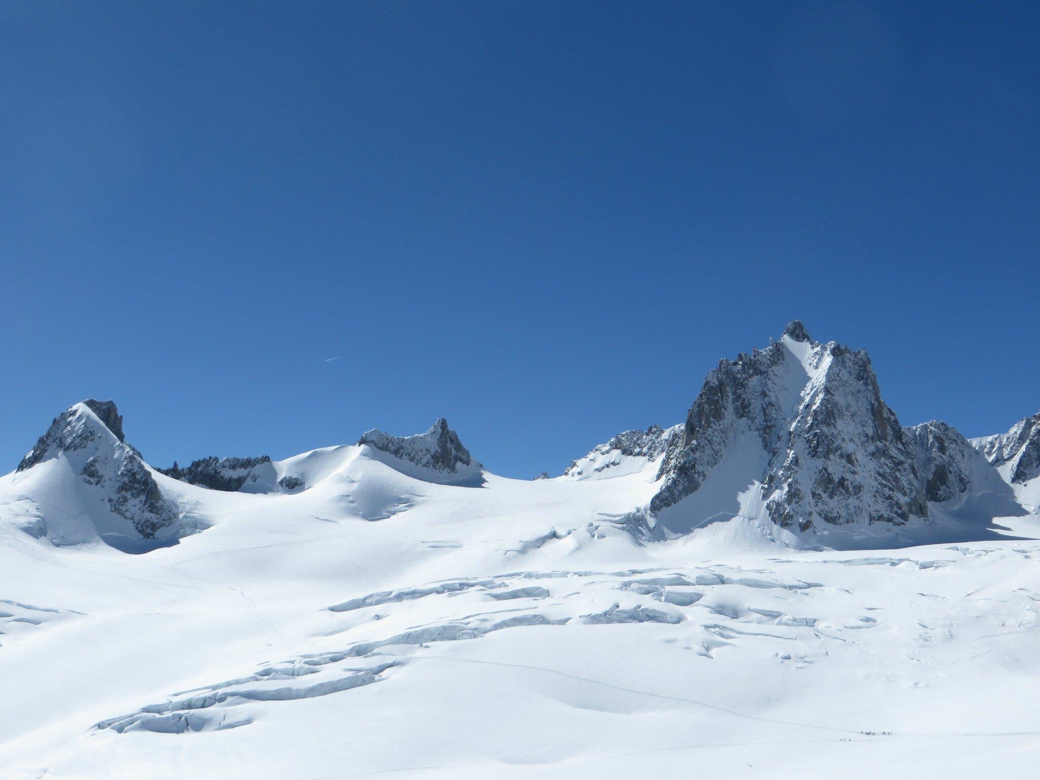 La neige, la poudreuse, la Vallée Blanche