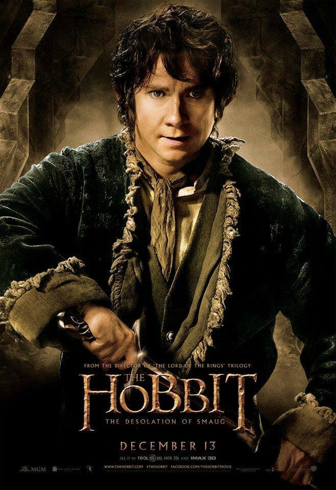 The Hobbit Desolation of Smaug Bilbo poster