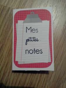 Mes petites notes1