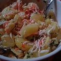 Salade de pommes de terre, artichaut, surimi