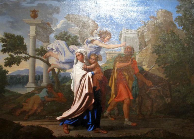 Nicolas Poussin :Fuite en Egypte ( 1657 )
