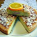Gâteau mousseline à l'orange