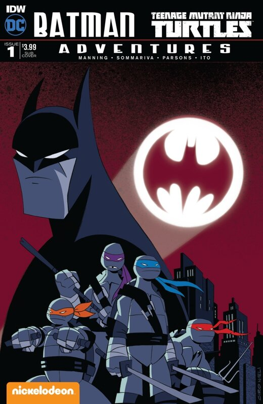 IDW batman TMNT adventures 01 sub cover nieli