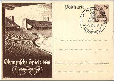 Entier postal Stade Berlin 1936