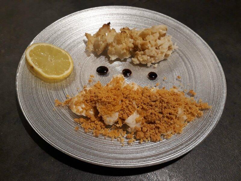 cabillaud crumble amandes beurre citronné