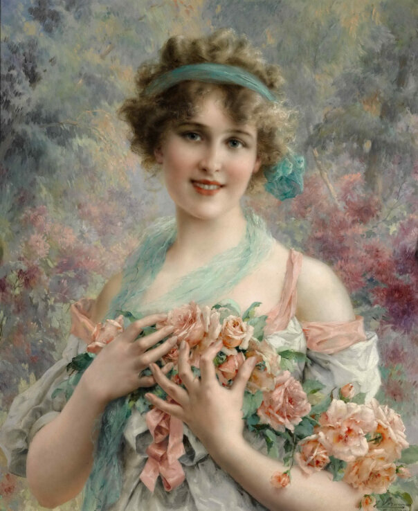 emile_vernon_the_rose_girl