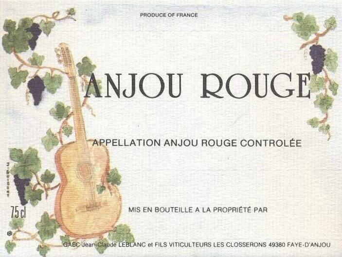 Etiquette de vin Anjou Ilustrateur J