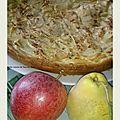 Tarte pommes-coings