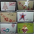 Mini-carte de noël avec sapin en origami et cadeau