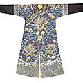 A kesi silk blue-ground 'nine-dragon' robe, 19th century