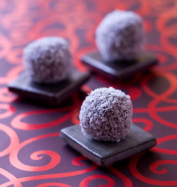 Truffes chocolat noir coco